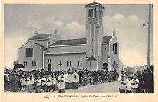 CPA MAROC CASABLANCA EGLISE ST FRANCOIS D'ASSISE (cliché pas courant
