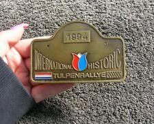 RALLY BADGE INTERNATIONAL HISTORIC TULPENRALLYE NETHERLAND CLASSIC CAR ACCESSORY