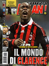 FORZA MILAN!=N°4 2010=CLARENCE SEEDORF COVER=POSTER LEONARDO=MANCHESTER UNITED C