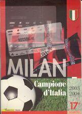 FOLDER MILAN CAMPIONE D'ITALIA 2003-2004 CARTOLINA BUSTA FRANCOBOLLO CELEBRATIVO