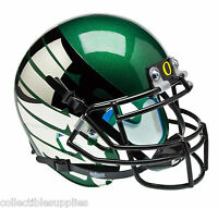 OREGON DUCKS ALTERNATE GREEN with CHROME WINGS SCHUTT MINI FOOTBALL HELMET