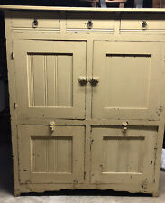 Antique Solid Hoosier Like CabinetWith Bins