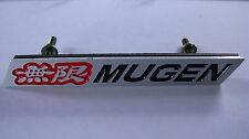 Mugen Aluminium Grill Badge Red & Black