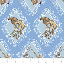 Camelot Disney Bambi Diamonds in Marina Blue 100% cotton fabric by the yard