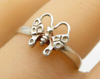925 Sterling Silver - Vintage Butterfly Band Ring Sz 8.5 - R2467
