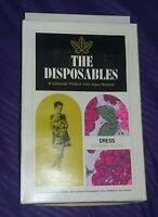 Vintage Rare 60's Mod Paper Dress New OLD Stock Deadstock Boho Music Festival