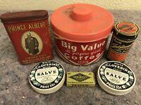 Lot of Vintage Advertising Tins-Prince Albert-Big Value Coffee