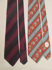 Lot de 2 cravates  GUCCI / DIOR  100% soie TBEG vintage