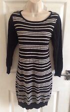 NEXT TALL Ladies Striped Jumper Dress Size 8