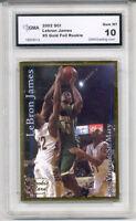 2002 Lebron James Sports Card Investor SCI Gold rookie gem 10 #5