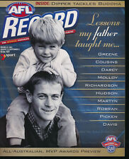 2001 AFL Football Record Essendon v Richmond Aug 31 - Sep 2 Bombers Tigers