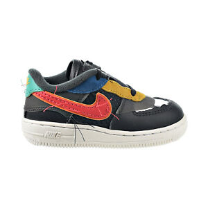 Nike Air Force 1 Black History Month Baby Toddler Shoes Dark Grey-Red CV2416-001