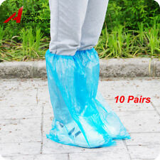 10 Pairs Disposable Shoe Covers Waterproof Rain Boot High-Top Protective Bag