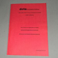 Deta Interantional #40 Disk Type Tool Changer System Manual MR4AE MR4BE MR4CE