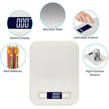 LED Digital Kitchen Scale Electronic Food Weighing Scale Stainless Steel 5KG/1G