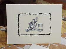 Barrel Racer Set Of 6 Note Cards & Envelopes G8 Gift for Can Chaser Horse Lover