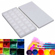 24 Grids Art Paint Tray Artist Oil Watercolor Drawing White Plastic Palette