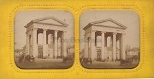 Milan Porte Monumentale Italie Stereo Diorama Vintage Albumine ca 1865