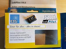 ESU 54617 LokPilot H0 Decoder V4.0 DCC/RailCom PluX22 m.9 Funktionsausg. NEU OVP