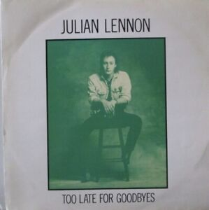 """JULIAN LENNON - Too Late For Goodbyes ~ 12"""" Single PS"""
