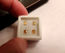 4pc Dry Cottonwood Creek Montana Natural Yellow Sapphires. Cut by me :) 1.40tcw