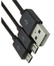 USB 2.0 A male to 2 male Micro USB Splitter Y Extension sync data charger cable