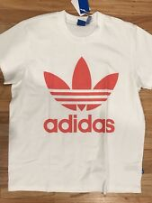 adidas Originals BIG Trefoil Tee T-Shirt White Relaxed Fit S