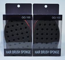 MAGIC TWIST HAIR BRUSH SPONGE TWIST CURLING NATURAL AFRO LOCKING DREADS *2 LOT*