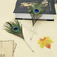 Creative Peacock Feather Ballpoint Pen Home Decoration Students Stationery Gifts
