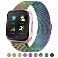 For Fitbit Versa Magnetic Milanese Stainless Wristband Metal Wrist Watch Bands