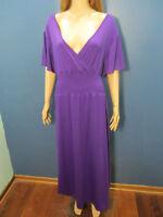 plus size 3X purple slinky stretchy dress by THE PARAGON