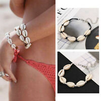 Women Bohemian Shell Bracelet Anklets Beach Rope Ankle Bracelets Foot Jewelry
