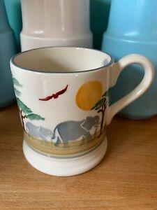 Emma Bridgewater Tusk Half Pint Mug Spongeware Discontinued Used 1st