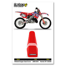 2000-2001 HONDA CR 125-250 TLD Ribbed GRIPPER Red/White Ribs by Enjoy MFG