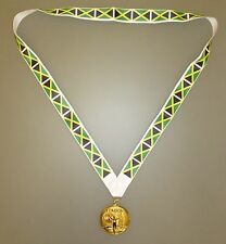 JAMAICA OLYMPIC MEDAL -Gold Olympic Style Medal with Jamaican Flag Lanyard (MI3)