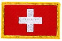 Toppe Toppa PATCH SVIZZERA 7x4,5cm Bandiera banderina ricamata termoadesivo