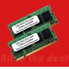 2GB Kit 2 X 1GB PC2-4200 SODIMM 4200 DDR2 DDR-2 533mhz 533 Laptop 200-pin Memory