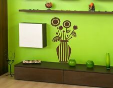 Abstract Flower Vase - Wall Decal Stickers