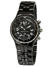 New Womens Technomarine TLCCB02C Chronograph Black Ceramic Bracelet Watch