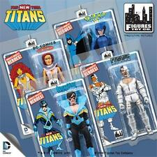 NEW TEEN TITANS FULL SET 4; 8 INCH FIGURES MOSC RAVEN; STARFIRE,NIGHTWING