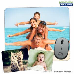 Personalised Any PHOTO / LOGO Mouse Mat Pad PC Computer Laptop Mac Gift Gaming