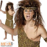 Caveman Tarzan Mens Fancy Dress Prehistoric Stone Age Adults Cave Man Costume