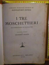 Dumas, I TRE MOSCHETTIERI, ILL. GUSTAVINO (Gustavo Rosso), Rizzoli & c. 1935