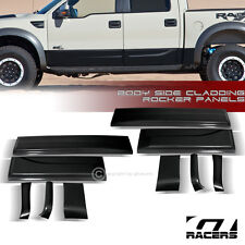 BLK BODY CLADDING TRIM SIDE DOOR ROCKER PANEL MOLDING 2011-2014 F150 RAPTOR CREW