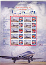 60th Anniversary of the First Flight fo the comet Smiler Sheet MNH.