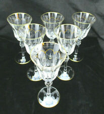 Faberge Atelier Crystal Collection 'Operetta' Wine Glass, Set of 6, NIB, France.
