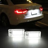 2x 18led éclairage plaque immatriculation Lampe pour Audi A6 C6 S6 A4