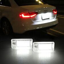 2x Senza errori LED NUMERO TARGA LUCE LAMPADINA PER Audi A3 A4 B6 B7 A6 S6 A8 Q7