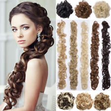 Messy Bun Hair Piece Wrap on Updo Scrunchie Hair Extension Long as Human hair US