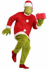 Grinch Jumpsuit Dr Seuss Costume Tunic Hat Mask Gloves Christmas Gift Kids Party